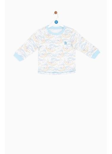 BG Baby Erkek Bebek Desenli Pijama Takımı Renkli